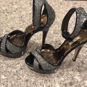 Miu Miu Glitter Platform Sandals Size 6